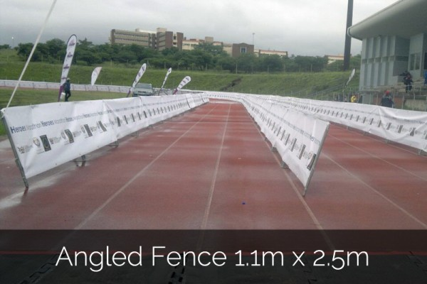 Angled Fence 1.1m x 2.5m for event hire in South Africa