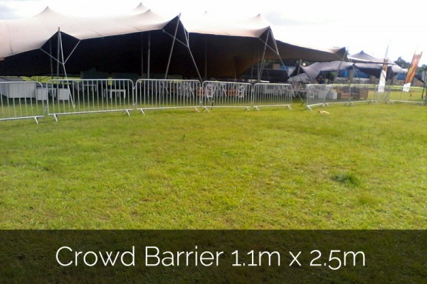 Crowd barrier 1.1m x 2.5m for outdoor event hire