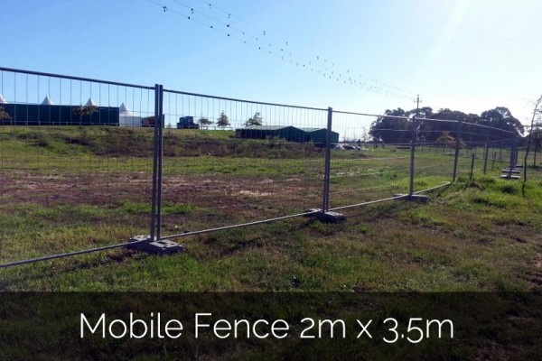 Mobile Fence 2m x 3.5m for event hire