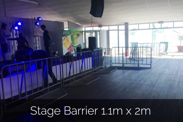 Stage Barrier 1.1m x 2m for events