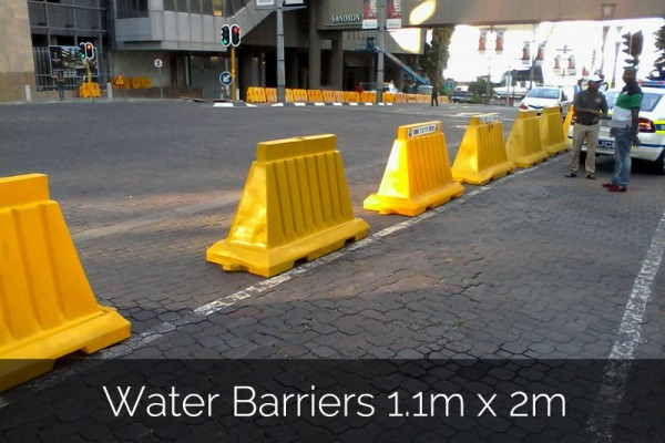Water Barriers 1.1m x 2m for event hire